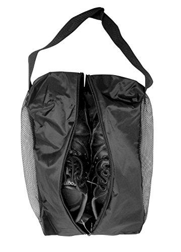 JP Lann Golf - Bolsa de Malla para Zapatos de Golf con Doble ventilación, Color Negro, 43 x 12 x 5 Pulgadas