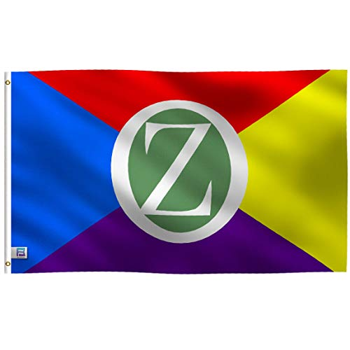 3x5 Foot Land of Oz Flag: Single Sided 100% Polyester Banner, Canvas Header with 2 Grommets, UV Resistant Vibrant Digital Print, for Use Outdoor or Indoor