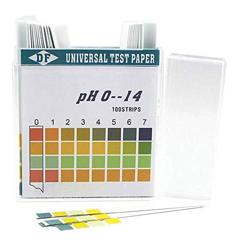 Milopon PH Teststreifen PH-Wert-Messungen Testpapier Lackmuspapier (pH 0-14) für Wasser Boden Urin Speichel 100 Stücke