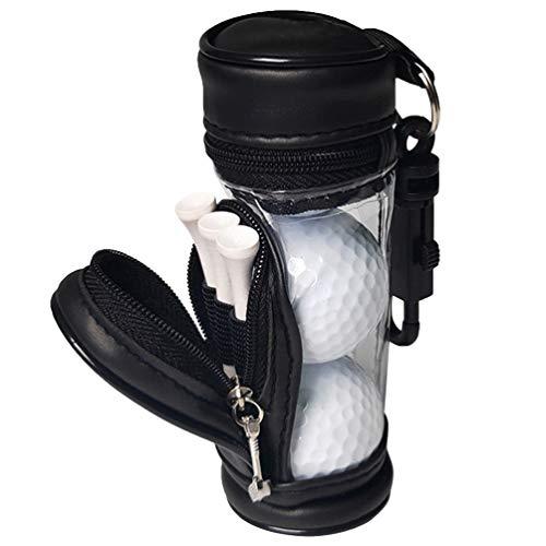 VOSAREA Golfball Tasche Golfball Halter für 4 Golfbälle Karabiner zum Anhängen Golf Fans Golfgeschenk Golf Tee Tasche Halter Beutel Veranstalter Golfsport Golfübungszubehör