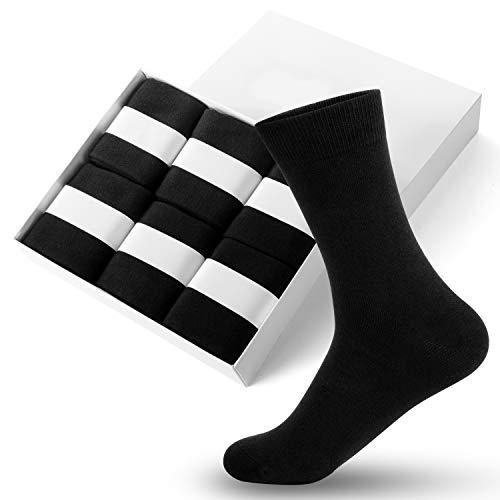 靴下 メンズ ビジネスソックス 6足セット 男性用 靴下 Lotrue 手作りリンキング ビジネス 靴下 黒 綿 抗菌防臭 通気性抜群 24-28CM