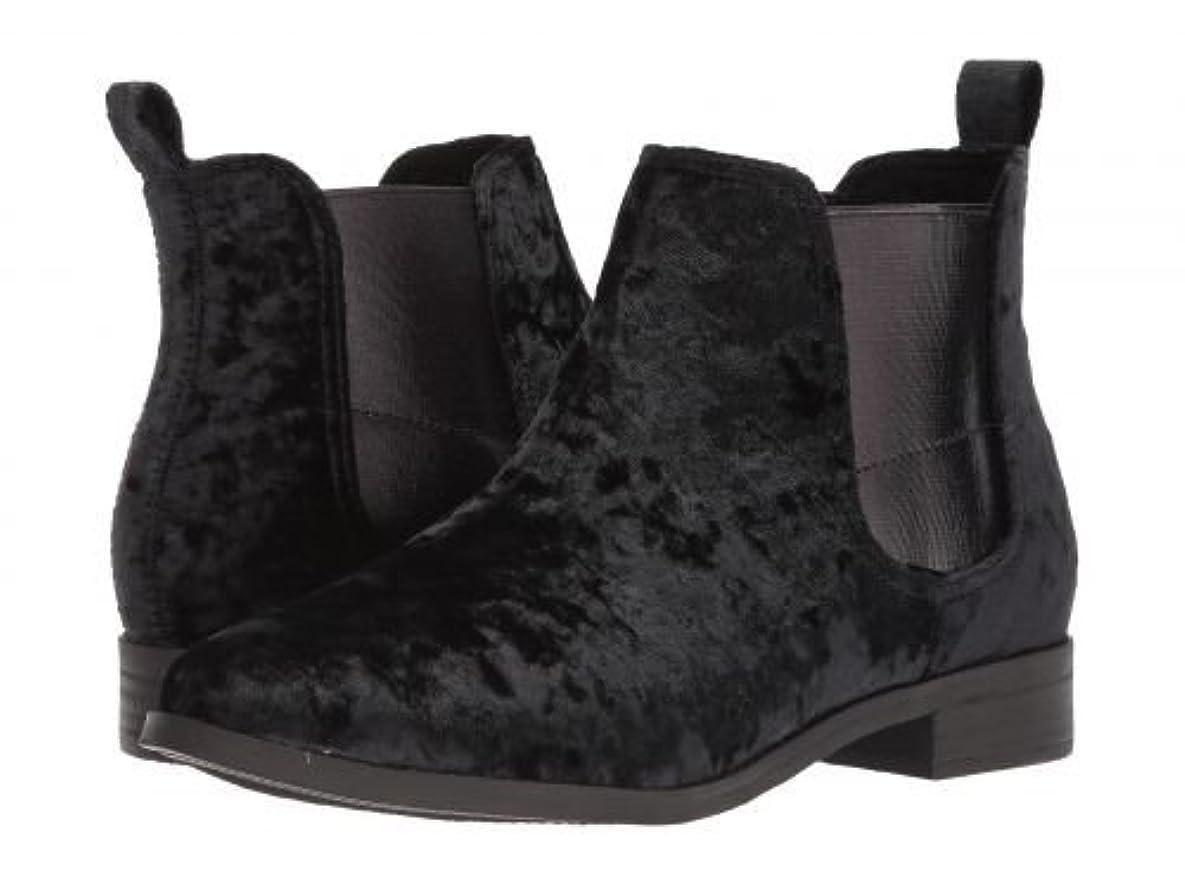 大宇宙ドット説明的TOMS(トムス) レディース 女性用 シューズ 靴 ブーツ チェルシーブーツ アンクル Ella - Black Velvet 7.5 B - Medium [並行輸入品]