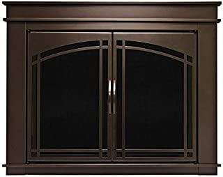 Pleasant Hearth FN-5701 Fenwick Fireplace Glass Door, Oil Rubbed Bronze, Medium
