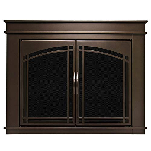 Cheap Pleasant Hearth FN-5701 Fenwick Fireplace Glass Door, Oil Rubbed Bronze, Medium