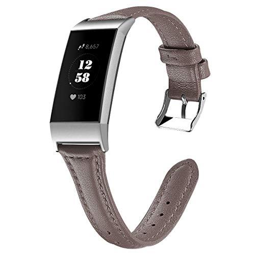 Gransho Correa de Reloj Compatible con Fitbit Charge 4 / Charge 4 SE/Charge 3 SE/Charge 3, Cross Piel Correa/Banda/Pulsera/Reemplazo (Pattern 2)