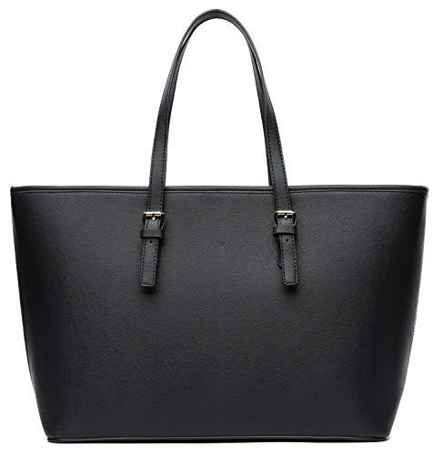 Vanessa & Melissa Damen Handtasche großer Shopper Elegante Schwarze Tasche für Schule Büro Einkauf