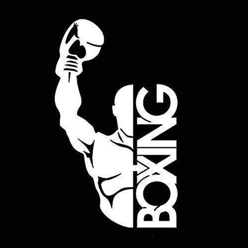 Pegatinas De Coche 9 * 15,3 Cm Guantes De Boxeo Decoración De Combate Pegatinas De Coche Calcomanías De Vinilo