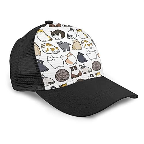 Popluck, berretto da baseball per gatti e gatti, regolabile, con visiera curva, in rete, per il tempo libero, colore nero