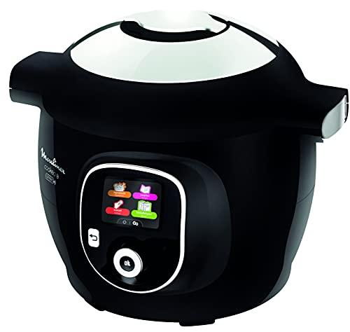 Moulinex Connect Hochdruck Smart Multicooker Waage und Form enthalten 6L 200 Rezepte 6 Kochmodi Schritt-für-Schritt-Anleitung My Cookeo CE859800 Anwendung, 6 Liter, Schwarz