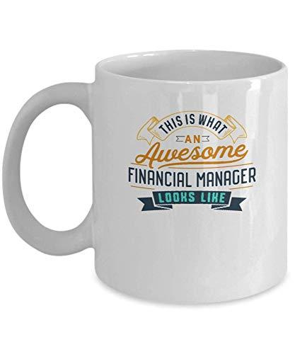 Divertida taza de café para gerente financiero, impresionante trabajo, ocupación, regalos para el día de la madre, novedad, tazas divertidas, regalo de 11 onzas