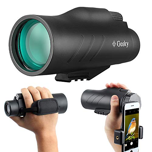 Best Prices! 10x50 HD Monocular with Scope Mounting Base Rifle Rail- Gosky New Waterproof Distantanc...