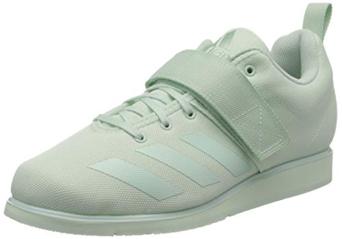 adidas Damen Powerlift 4 Indoor Court Shoe, Dash Green/Dash Green/Dash Green, 44 2/3 EU