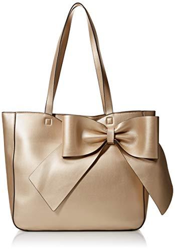 Karl Lagerfeld Paris Damen CANELLE FARA PU BOW TOTE Tragetasche, pale gold, Einheitsgröße