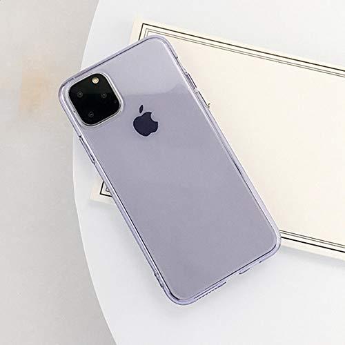 AAA&LIU Funda de teléfono para iPhone 11 Pro MAX X XS XR XS MAX Transaprent Funda de Silicona TPU Suave de Color sólido para iPhone 6 6s 7 8 Plus, E, para iPhone 11 Pro