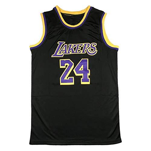 ZYJL Bryant Jersey para Hombres, Lakers 24# Black Mamba Kobe Basketball Jerseys Unisex Training Sports Camiseta Chaleco Camiseta sin Mangas (S-XXL) XL