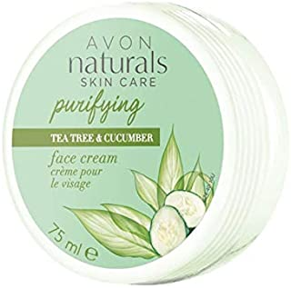 Avon Women's Natural Skin Care Purifying Tee Tree & Cucumber Face Cream 75ml