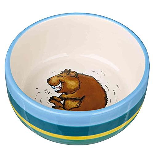 Trixie 60802 Ceramic Bowl Guinea Pigs 250 ml Diameter 11 cm Multi-Coloured / Cream