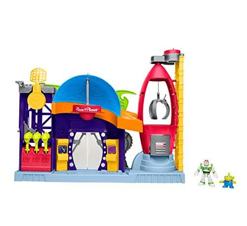 Mattel Imaginext Disney Toy Story Pizza Planet con Figura de Buzz y Alien, Juguetes Niños +3 Años (GFR96)