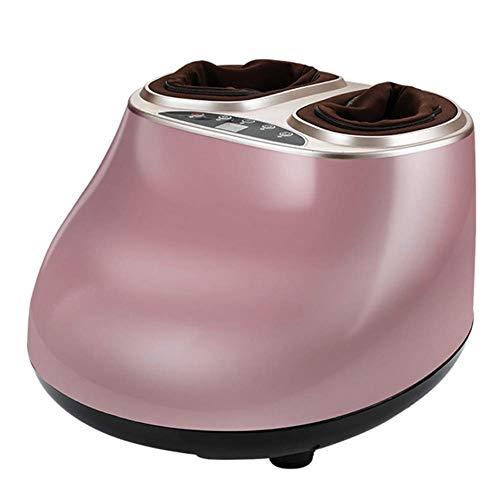 Máquina de masajeador de pies con calor eléctrico de amasado profundo Masaje de masaje Pies de compresión de aire para el hogar y la oficina Mejorar el control del panel de circulación sanguínea, rosa