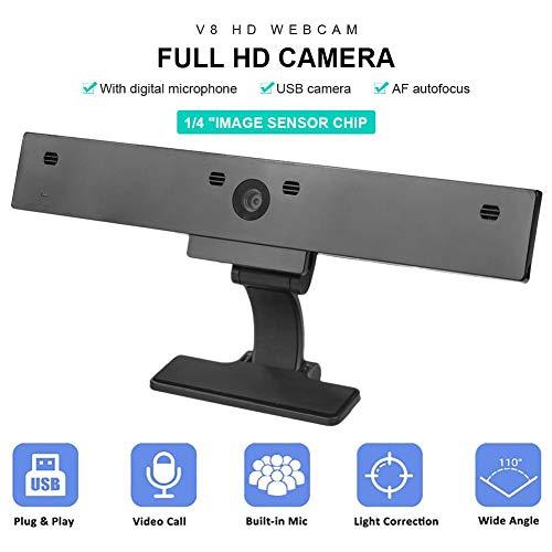 StreamCam Live Streaming Webcam HD Webcam met Ingebouwde Microfoon Mini USB Video Webcam voor PC Laptop Online Conferentie Onderwijzen Afstandsbediening, Spel, Videobellen, Opnemen Conferentie