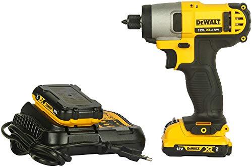 Dewalt DCF815D2-QW Atornillador Impacto XR 10, 9 W, 10.8 V, Negro y amarillo, 1/4'