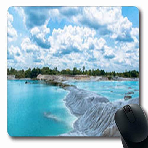 Luancrop Alfombrillas de ratón Caolín Azul Lago Belitung Naturaleza Oblong Gaming Mouse...