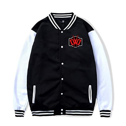 Miwaimao Ch_Ad Wi_Ld Cl_Ay Varsity Chaqueta de béisbol Ourdoor Uniforme Suéter Abrigo...