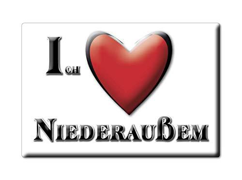 Enjoymagnets NIEDERAUßEM (NW) Souvenir Deutschland Nordrhein Westfalen Fridge Magnet KÜHLSCHRANK Magnet ICH Liebe...