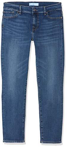 7 For All Mankind Damen Rise Roxanne Crop Slim Jeans, Blau (MID Blue EA), 30W / 28L