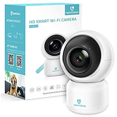 HeimVision 1080P Security Camera, HM203 UG WiFi Home Indoor Camera with Smart Night Vision/2 Way Audio/Motion Detection, Wireless IP Dog Camera for Baby/Pet/Nanny Monitor, Cloud/MicroSD Support