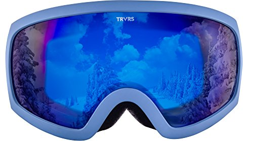 Retrospec Traverse G1 Ski, Snowboard, and Snowmobile Goggles, Haze / Cobalt Lens