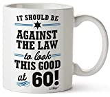 1960 60th Birthday Gifts Men Women   Birthday Gift for Man Woman turning 60   Funny 60 th Party Supplies Decorations Ideas   Sixty Year Old Bday Coffee Mug   60 Years Gag Office Cups Presents Mens