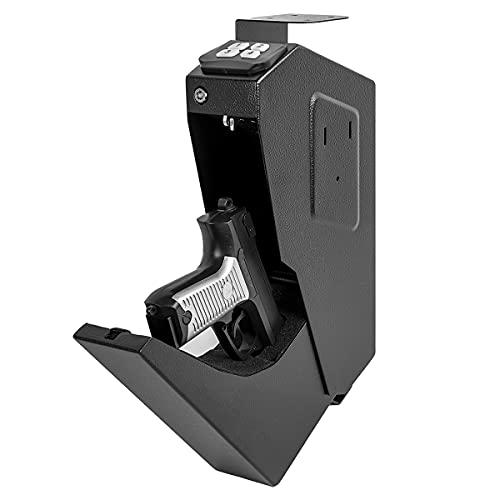 GOLDENKEY Mounted Gun Safe Handgun Bedside Safe Portable...