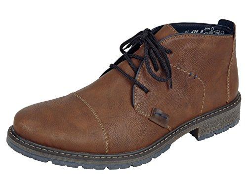 Rieker Herrenschuhe 38112 Herren Boots, Stiefel, Schnürstiefel braun (Mandel/Navy/Kastanie / 24), EU 43