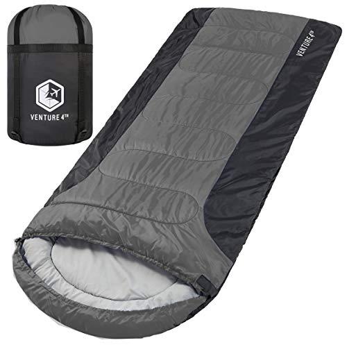 3-Season XL Sleeping Bag, Extra Large – Lightweight, Comfortable, Water Resistant, Backpacking...
