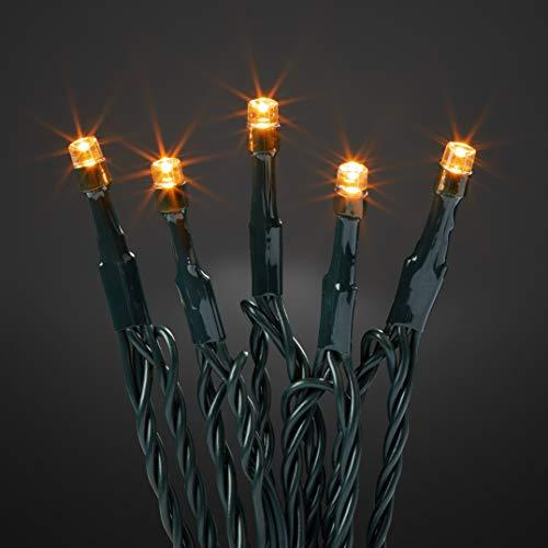 Hellum 576580 LED Lichterkette 40 LEDs bernstein / 13,9 m/innen & außen/Zuleitung 10 m grün