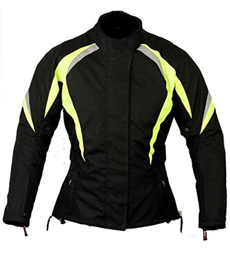 GearX Chaqueta de moto para mujer Protección impermeable Chaqueta para mujer Moto, Verde, M