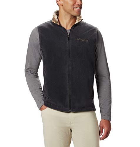 Columbia Herren Fleeceweste Phg Fleece Vest, Herren, 1625603, Schwarz/Rt Edge, Groß