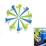 Guizu Kit de riego automático, Sistema de riego de Plantas de liberación Lenta con Interruptor de válvula de Control, Bonsai de jardín y Sistema Goteo, Kit de riego Ideal para Las Vacaciones(20pcs)