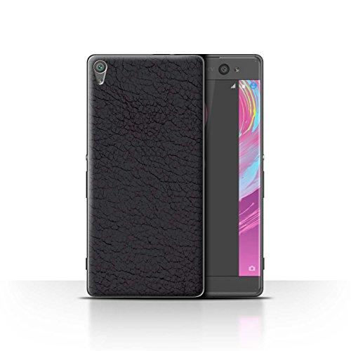 STUFF4Phone Case/Cover/Skin/sxpz-CC Parche de Piel de/Efecto colección Olive Black Sony Xperia XA