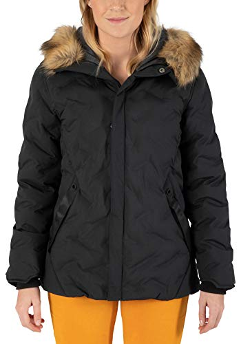Timezone Damen Bonded Jacket 4 Steppjacke, Caviar Black, S