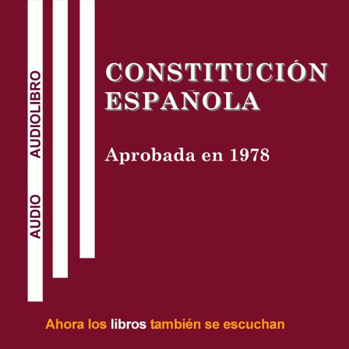 Constitucion Espanola [Spanish Constitution] audiobook cover art