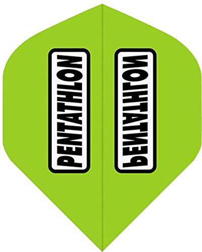 abcdarts Unisex Erwachsene Pentathlon Classic Dart Flights, Lime Grün, Klassische EU