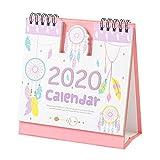 和風2020月間卓上カレンダー学年卓上カレンダー-ピンク