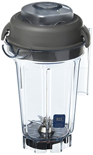 Vitamix Vita-Mix 32 Oz Stackable Use Make Any Type of Frozen drin Container, Clear
