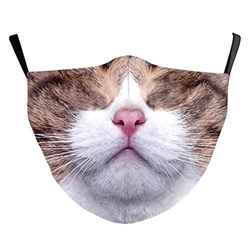 (H) おもしろマスク ハロウィン 三毛猫 タマ アニマル M 大人用 面白い 変顔マスク 洗える 布 変装 仮装 被り物 コスプレ コスチューム パーティーグッズ おもしろ雑貨 人気