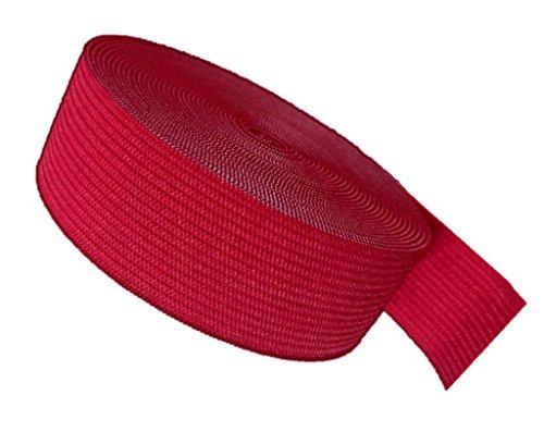 Ninepeak Braided Elastic, Red, 5-Yard by 1-Inch