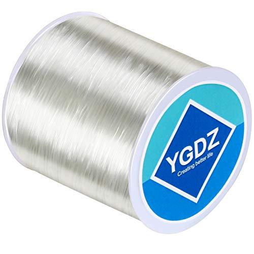 0.8mm Bracelet String, YGDZ Elastic String for Bracelets Jewelry Making, Stretchy Beading String Elastic Cord for Bracelets, 1 Roll 100m (0.8mm)