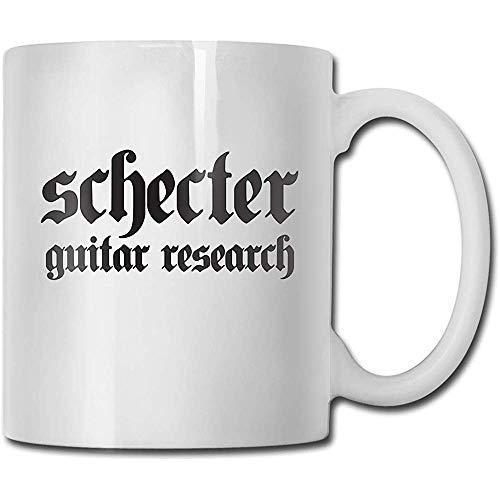 Mokken Schecter Gitar Fashion Design grappige koffiemok thee Cup cadeau voor fans man vrouw vriendin wit