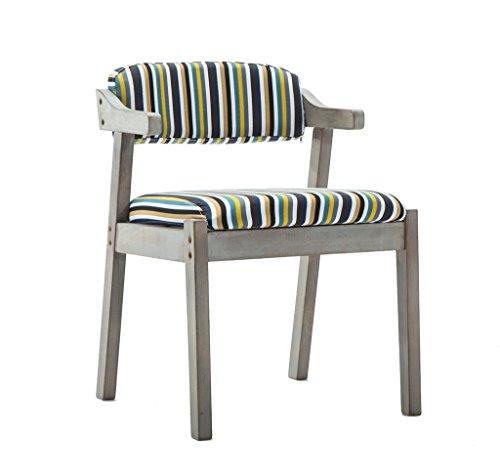 SZQ massief houten eetkamerstoel, fauteuil retro caféstoel bureau stoel bar restaurant barkruk 52 * 59 * 74 cm gemengde stijl